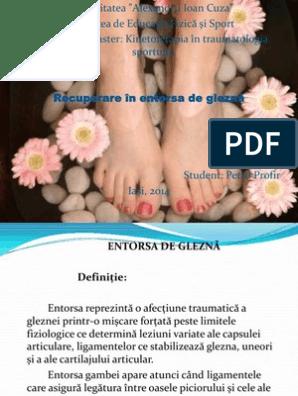 unghiile de entorse articulare