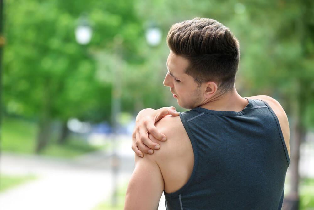 deteriorarea parțială a ligamentului articulației umărului drept
