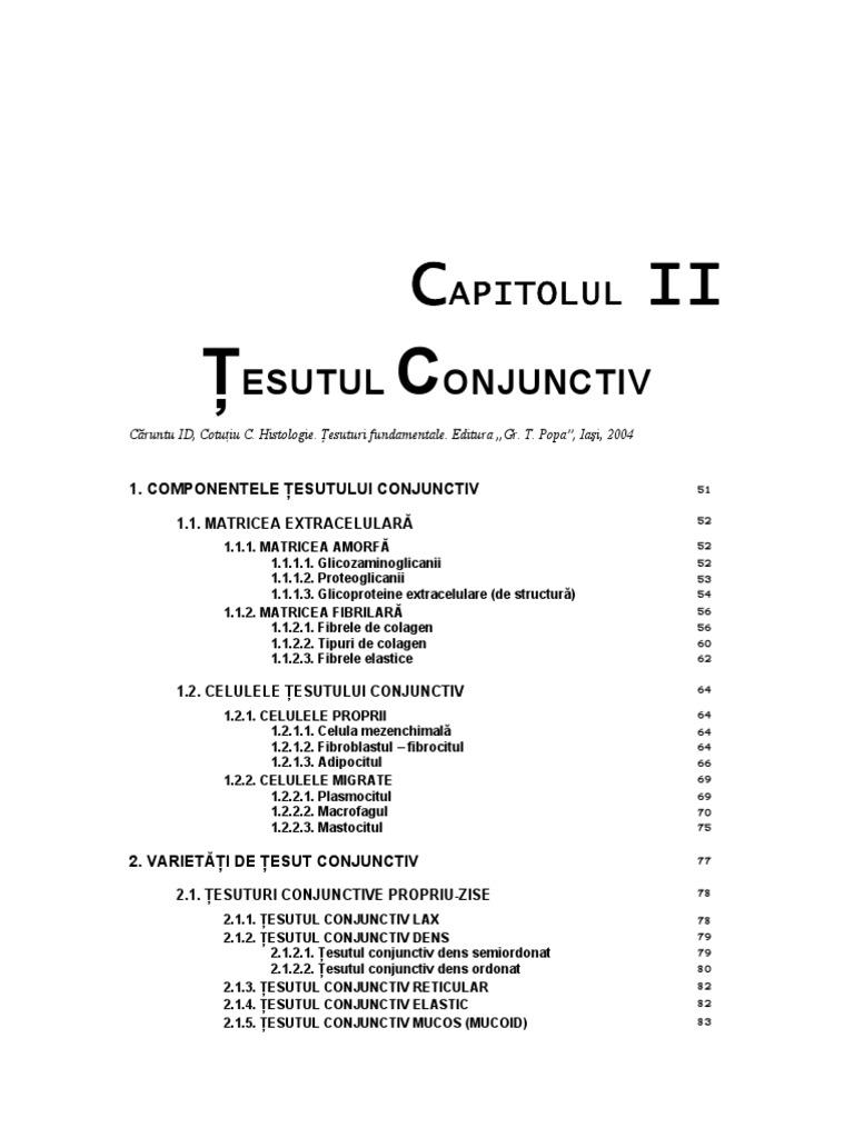 medicamente de histologie a țesutului conjunctiv