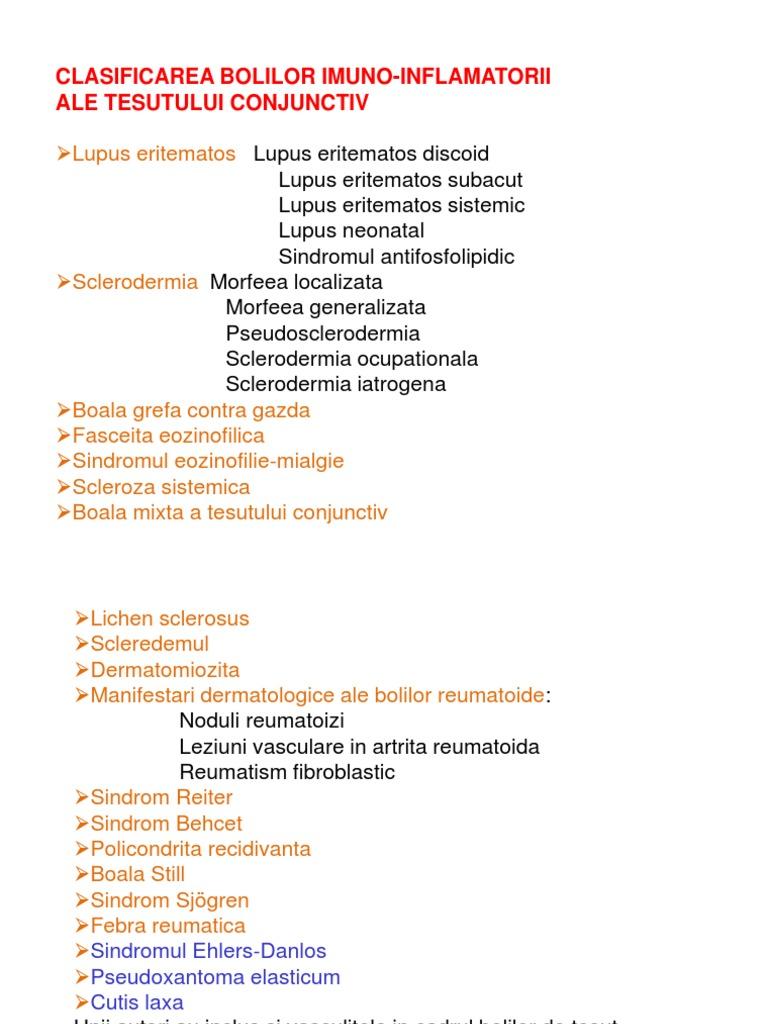 clasificarea boala țesutului conjunctiv sistemic tratamentul artrozei cu medicamente hel
