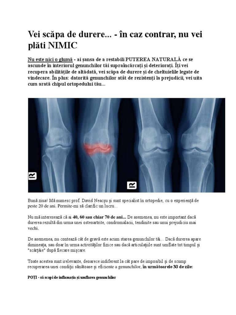 salvați de dureri la genunchi